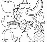 Coloring Fruit Fruits Colorings Getdrawings sketch template