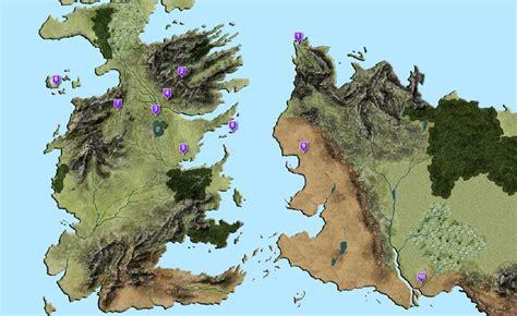 Mapa De Los Reinos De 'juego De Tronos