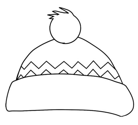 winter hat coloring page january  national hat day pinterest crafts paper