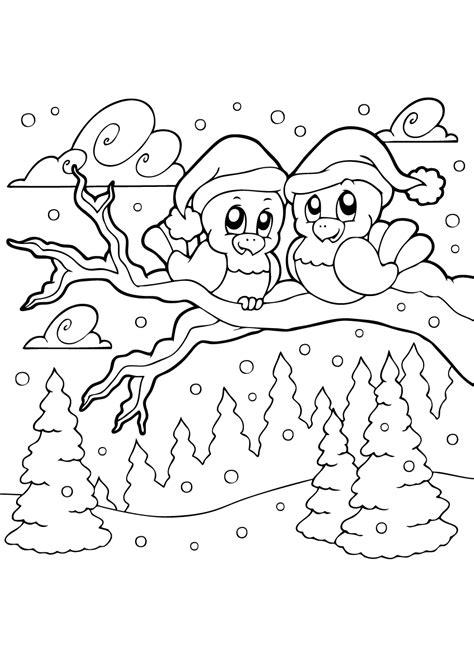 Kleurplaat Vogels In De Winter by Kleurplaat Winter O A Sneeuw Schaatsen Wintersport Iglo