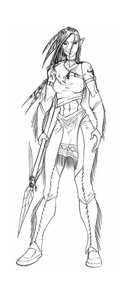Orc Half Druid Character Deviantart Female Concept