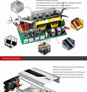 Pure Sine Wave Power Inverter 500w Voltage Converter 220 110