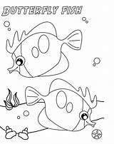 Fish Coloring Pages Puffer Butterfly Printable Sketch Butterflyfish Clown Drawing Sheet Bowl Sea Goldfish Designlooter Getcolorings Drawings 5kb 1659 Getdrawings sketch template