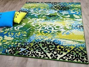 Teppich Blau Grün : designer teppich funky vintage modern blau gr n teppiche designerteppiche funky teppiche ~ Yasmunasinghe.com Haus und Dekorationen