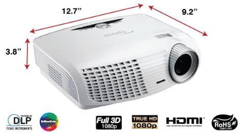 optoma hd25 lv 1080p 3d dlp home theater projector