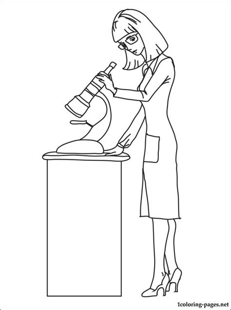 biologist coloring page coloring pages