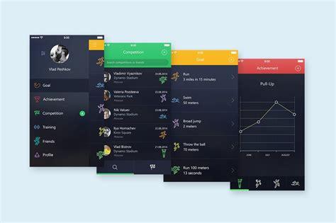 app sport ui bonus app mock  web elements creative