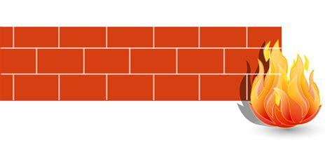 vector graphic firewall fire brick wall