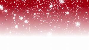 Christmas Red Background With White Bokeh Snow Falling ...