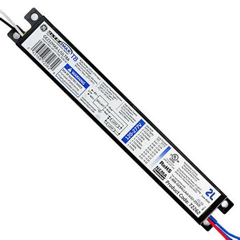 t8 ballast 2 l ge 72262 t8 fluorescent ballast 120 277 volt