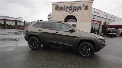 jeep cherokee green 2015 2015 jeep cherokee trailhawk green fw646699 everett
