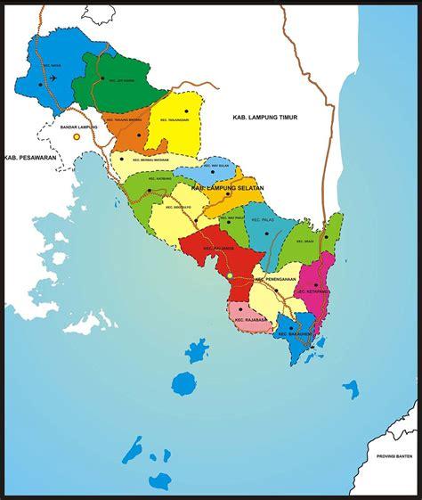 peta wilayah kabupaten lampung selatan blogger indonesia