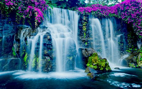 Free Dr Who Wallpaper Beautiful Blue Waterfall In Hawaii Wallpapers13 Com