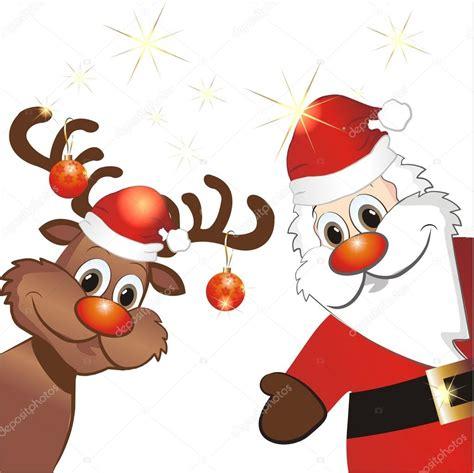 lustige weihnachtsmann bilder lustige rentiere und weihnachtsmann stockvektor 169 lienchen020 2 33965357