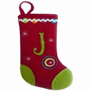 amazoncom st nicholas square monogram mini stocking With single letter monogram christmas stockings