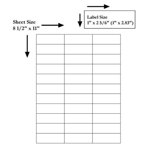 Avery 5351 Label Template by 33 Up Copier Labels Ink Jet Laser Printer Labels Avery