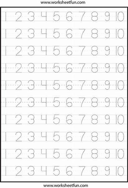 Numbers Printable Tracing Printablee Worksheets