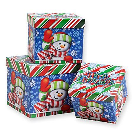 piece christmas nesting gift boxes cheerful snowman