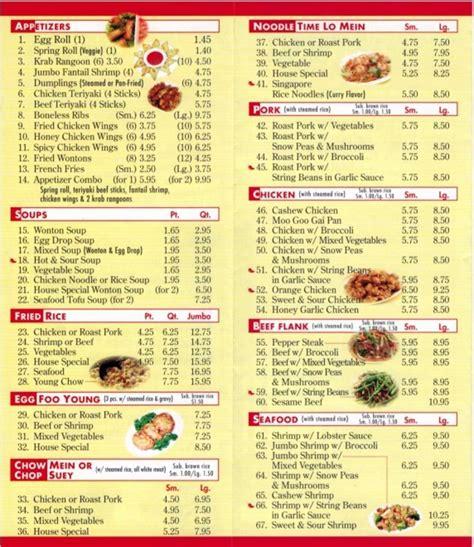Golden House Kitchen Valley Menu by Bamboo Garden Food Menu Food