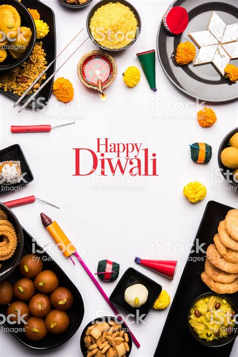 happy diwali greeting card   sweets  fire