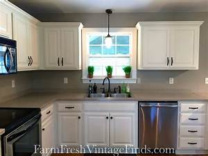 gf linen milk painted kitchen cabinets general finishes With kitchen colors with white cabinets with union jack wall art