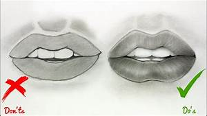 DOs & DON'Ts: How to Draw Realistic Lips / Mouth - Easy ...