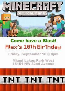 Minecraft Birthday Theme Invitation & Tags by ...
