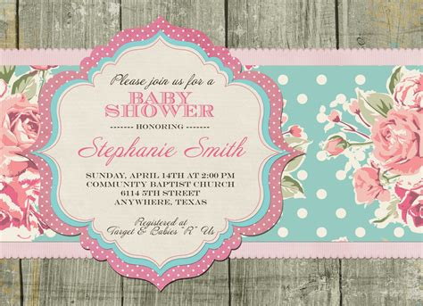 shabby chic baby shower decorations baby shower invites etsy baby shower for parents