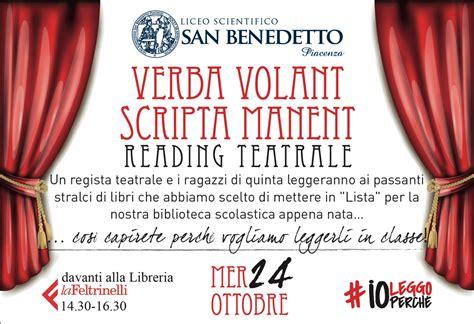 Verba Volant Scripta Manent Verba Volant Scripta Manent 24 10 2018 Liceo San