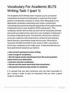 Ieltsdori Vocabulary For Academic Ielts Writing Task 1