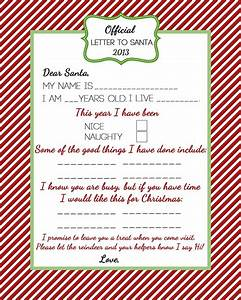 official letter to santa for the hollydays pinterest With santas official letters