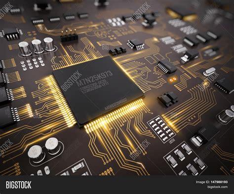 High Tech Electronic Pcb Printed Image Photo Bigstock