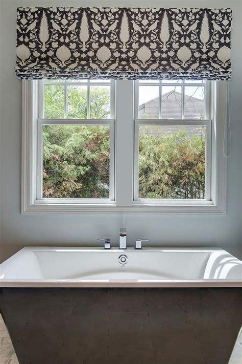 black bathtub  window dressed  schumacher