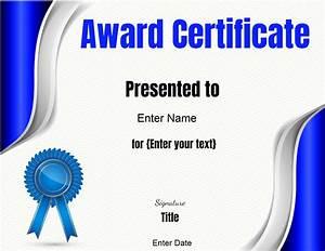 Customizable Award Certificates Free Editable Certificate Template Customize Online