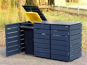 Mülltonnenbox Holz Anthrazit : 3er m lltonnenbox 240 liter heimisches holz made in ~ Whattoseeinmadrid.com Haus und Dekorationen