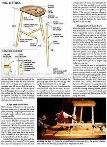 three legged stool plans woodarchivist