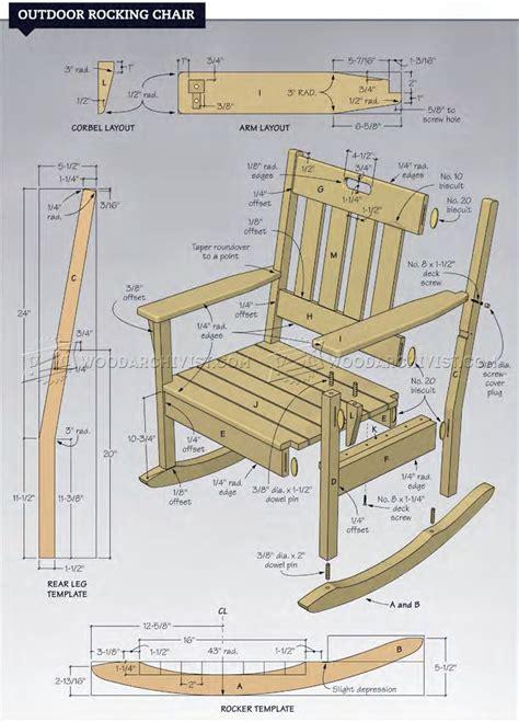 outdoor rocking chair plans woodarchivist