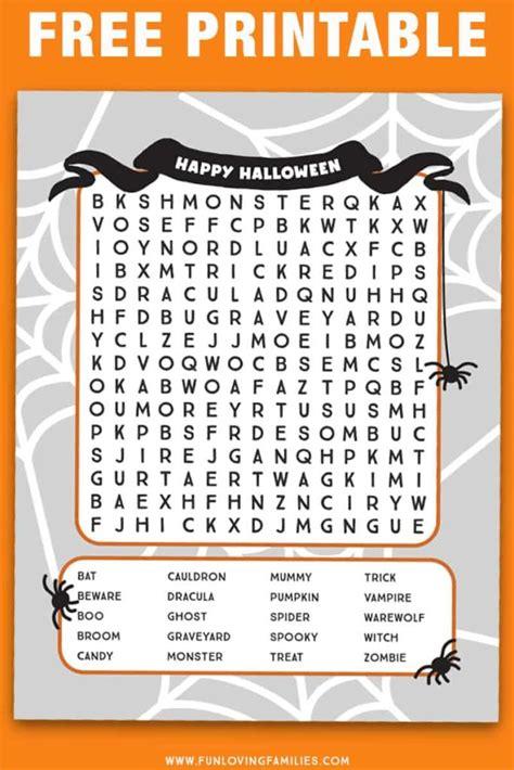 halloween word search printables fun loving families