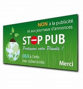 Pas De Pub Merci : marre de la publicit commander l 39 autocollant stop pub ~ Dailycaller-alerts.com Idées de Décoration