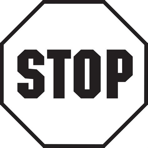 stop sign template best stop sign clipart images clipartion