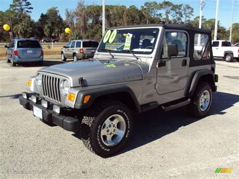 jeep metallic 2000 silverstone metallic jeep wrangler sport 4x4