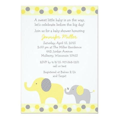 yellow baby shower invitations babyshowerinvitationsu