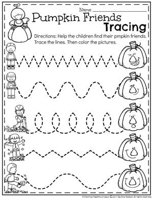October Preschool Worksheets  Planning Playtime