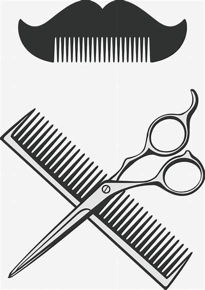 Scissors Comb Barber Hair Clipart Dryer Vector