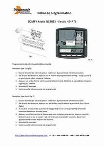 Programmer Telecommande Somfy : calam o notice de programmation t l commande somfy keytis ~ Dode.kayakingforconservation.com Idées de Décoration