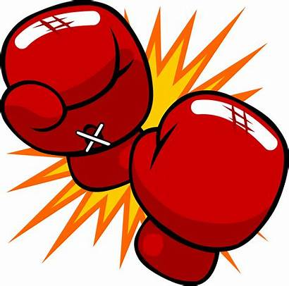 Knockout Clipart Glove Boxing Vector Punch Clip