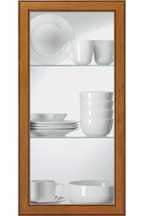 clear glass cabinet insert kitchen craft cabinetry