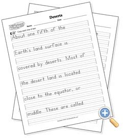 handwriting worksheet works