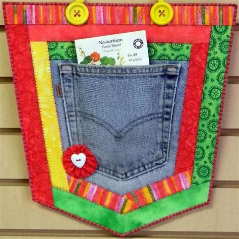 pocket pouch recycled denim pockets sewing patterns