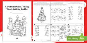 * New * Christmas Phase 3 Tricky Words Activity Booklet Eyfs